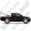Tow Truck Right Black Icon