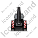 Backhoe Loader Back Black Icon, PNG/ICO, 128x128