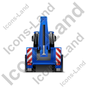Backhoe Loader Back Blue Icon