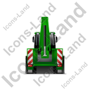 Backhoe Loader Back Green Icon, PNG/ICO, 128x128