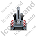 Backhoe Loader Back Grey Icon