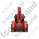 Backhoe Loader Back Red Icon