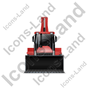 Backhoe Loader Front Red Icon
