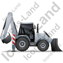 Backhoe Loader Right Grey Icon
