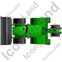 Backhoe Loader Top Green Icon, PNG/ICO, 128x128