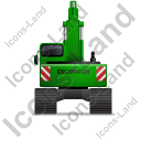 Excavator Back Green Icon