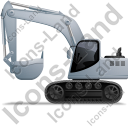 Excavator Left Grey Icon