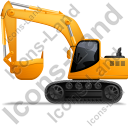 Excavator Left Yellow Icon