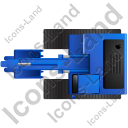 Excavator Top Blue Icon