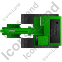 Excavator Top Green Icon, PNG/ICO, 128x128