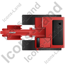 Excavator Top Red Icon