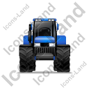 Farm Tractor Front Blue Icon