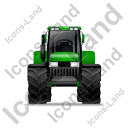 Farm Tractor Front Green Icon, PNG/ICO, 128x128