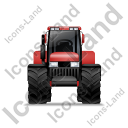 Farm Tractor Front Red Icon