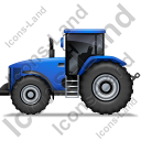 Farm Tractor Left Blue Icon