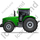 Farm Tractor Left Green Icon, PNG/ICO, 128x128