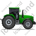 Farm Tractor Right Green Icon