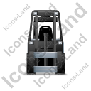 Forklift Truck Front Grey Icon