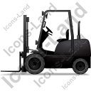 Forklift Truck Left Black Icon
