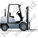Forklift Truck Right Grey Icon