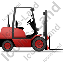 Forklift Truck Right Red Icon