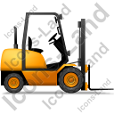 Forklift Truck Right Yellow Icon, PNG/ICO, 128x128