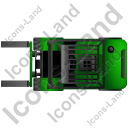 Forklift Truck Top Green Icon, PNG/ICO, 128x128