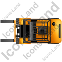 Forklift Truck Top Yellow Icon, PNG/ICO, 128x128