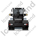 Steam Roller Back Black Icon, PNG/ICO, 128x128