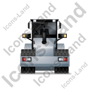 Steam Roller Back Grey Icon, PNG/ICO, 128x128