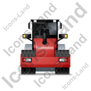 Steam Roller Back Red Icon, PNG/ICO, 128x128