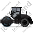 Steam Roller Left Black Icon, PNG/ICO, 128x128
