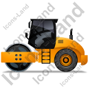 Steam Roller Left Yellow Icon, PNG/ICO, 128x128