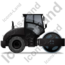 Steam Roller Right Black Icon, PNG/ICO, 128x128