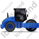 Steam Roller Right Blue Icon