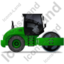Steam Roller Right Green Icon, PNG/ICO, 128x128