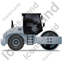Steam Roller Right Grey Icon, PNG/ICO, 128x128