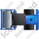 Steam Roller Top Blue Icon, PNG/ICO, 128x128