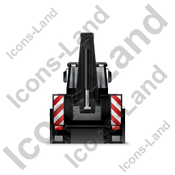 Backhoe Loader Back Black Icon