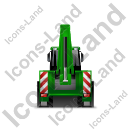 Backhoe Loader Back Green Icon