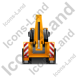 Backhoe Loader Back Yellow Icon