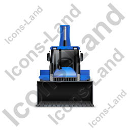 Backhoe Loader Front Blue Icon