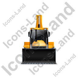 Backhoe Loader Front Yellow Icon