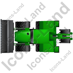 Backhoe Loader Top Green Icon, PNG/ICO, 256x256