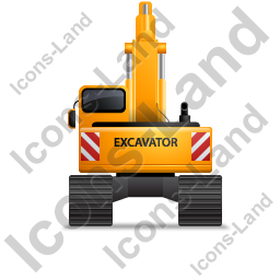 Excavator Back Yellow Icon