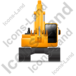 Excavator Front Yellow Icon