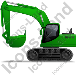 Excavator Left Green Icon