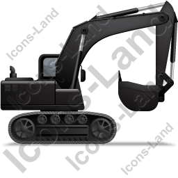 Excavator Right Black Icon