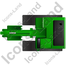 Excavator Top Green Icon, PNG/ICO, 256x256