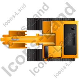 Excavator Top Yellow Icon